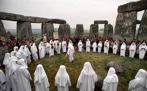 Modern day Druids at Stonehenge