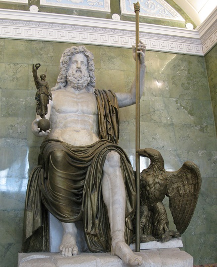 Jupiter, king of gods and weather god in ancient Rome