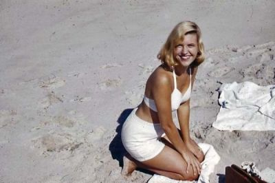 Photo of Sylvia Plath from Gordon Ames Lameyer Papers probably from the Summer of 1953.