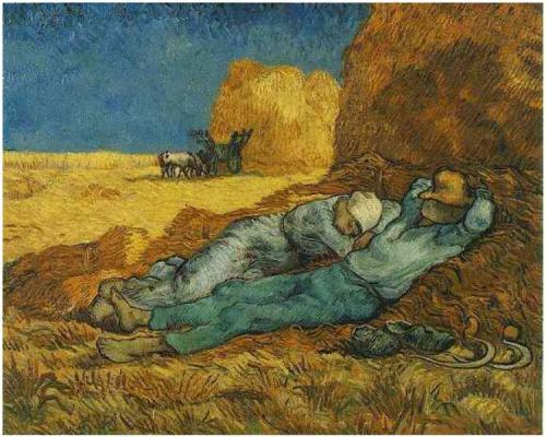 Noon: Rest from Work (after Millet) - Vincent Van Gogh