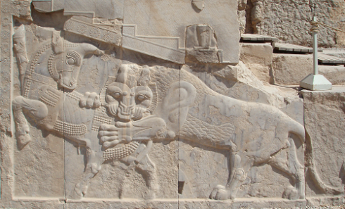 Bas-relief in Persepolis – a symbol Iranian/Persian Nowruz – on the day of an equinox, the power of an eternally fighting bull (personifying the Earth) and that of a lion (personifying the Sun) are equal.