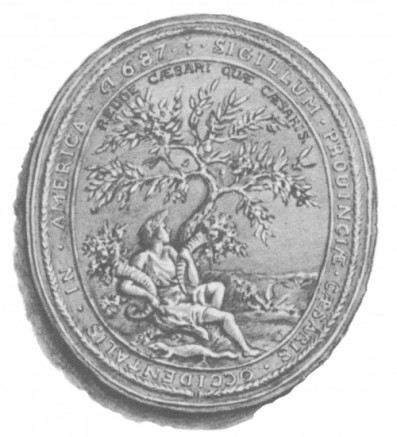 Seal of the Province of Western New Jersey