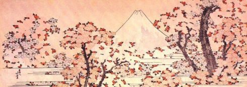 Mount Fuji seen through cherry blossoms