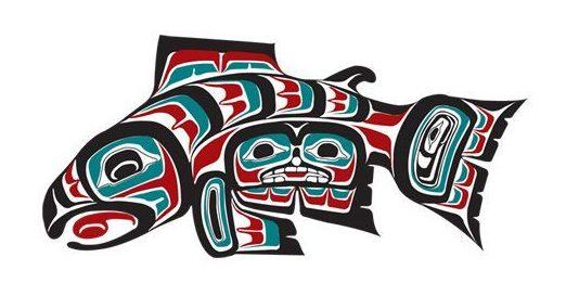 Haida salmon art