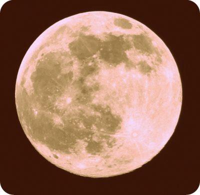 pinkish moon