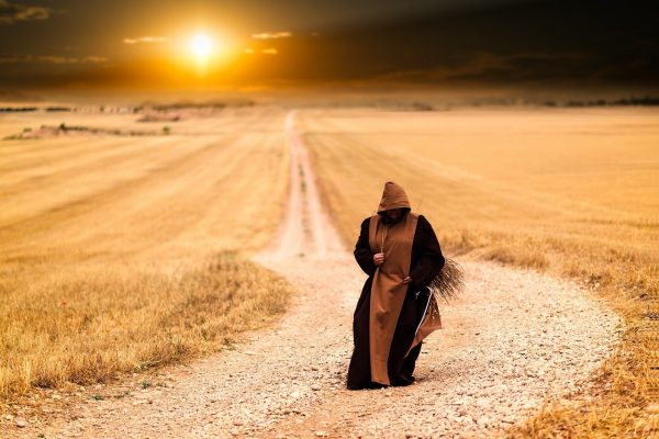 pilgrim on road